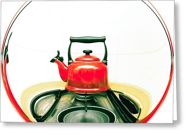 Red Kettle Greeting Card
