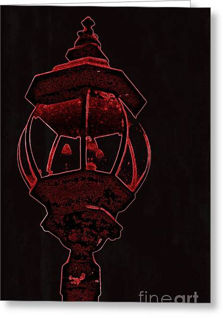 Red Light District Greeting Card by EGiclee Digital Prints