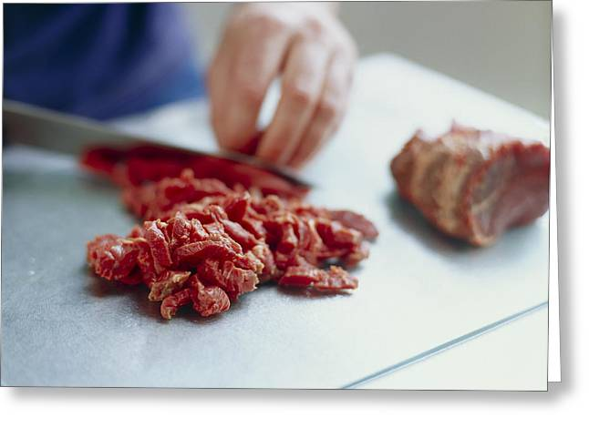 Red Meat Greeting Card by David Munns