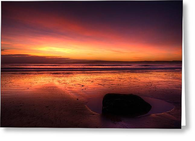Red Morning Greeting Card by Svetlana Sewell