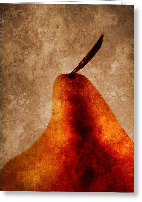 Red Pear I Greeting Card by Carol Leigh