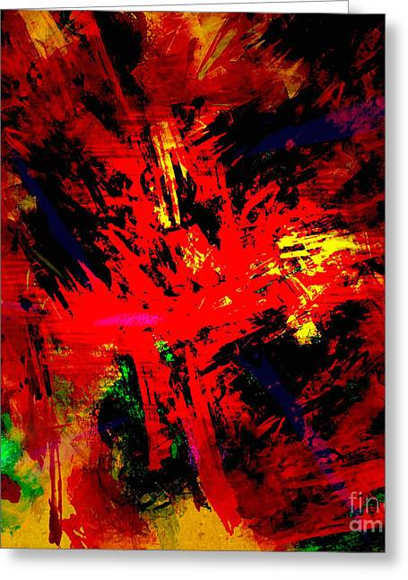 Red Planet Greeting Card by Vidka Art