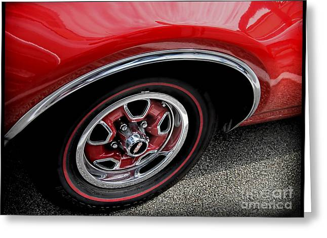 Red Power Of 442 Oldsmobile Greeting Card