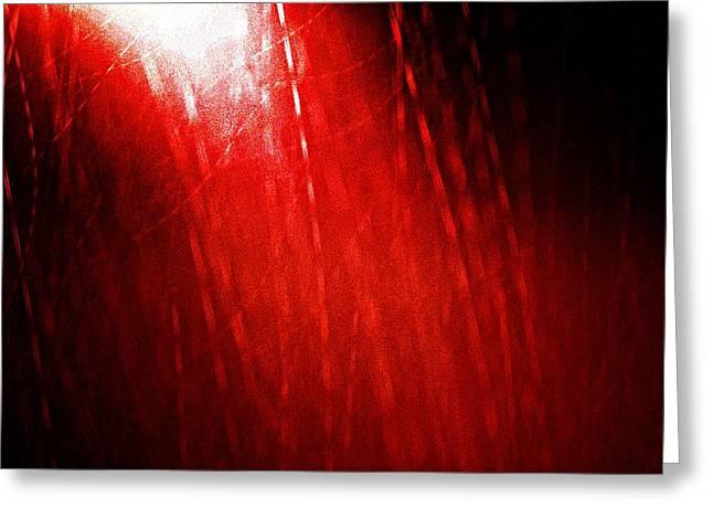 Red Rain 2 Greeting Card by Sandro Ramani