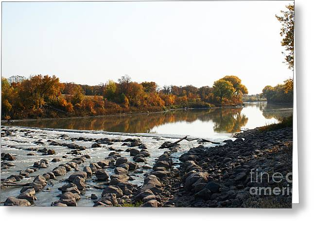 Greeting Card featuring the photograph Red River Fall Of The Year by Steve Augustin