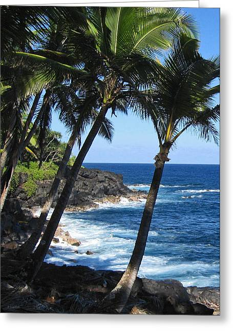 Red Road Drive On Hawaii Island Greeting Card