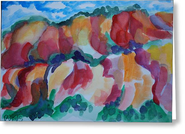 Red Rock Landscape Greeting Card by Rufus Norman