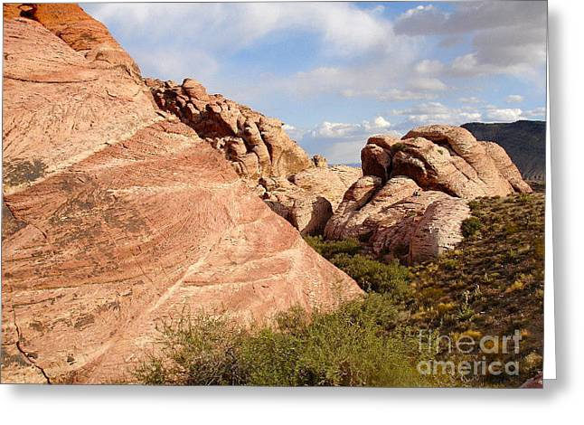 Red Rock Greeting Card by Silvie Kendall