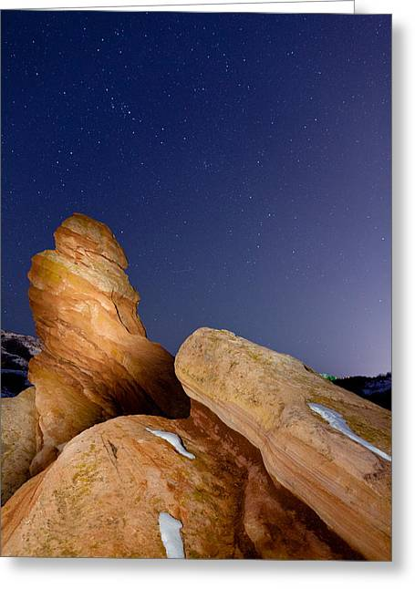 Red Rock Stars Greeting Card by Adam Pender
