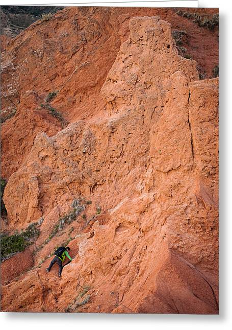 Red Rocks Greeting Card by Konstantin Dikovsky