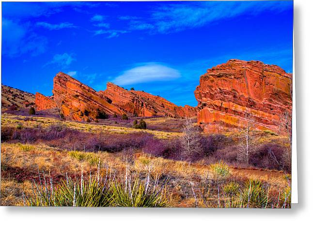 Red Rocks Park Colorado Greeting Card by David Patterson
