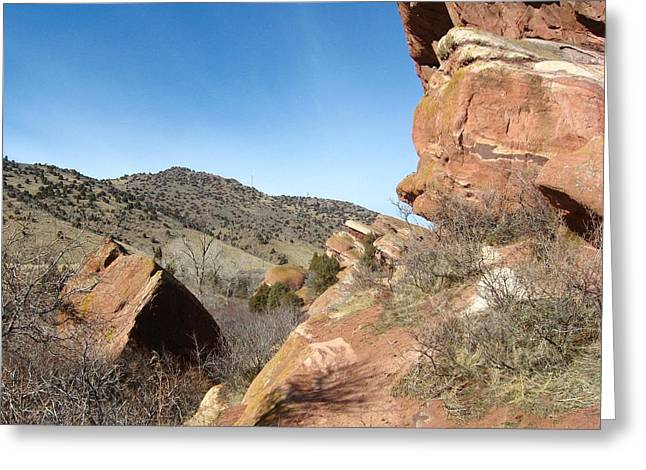 Red Rocks Park Colorado Greeting Card by Gretchen Wrede