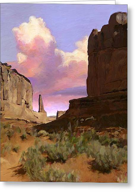 Red Rocks Greeting Card by Snake Jagger