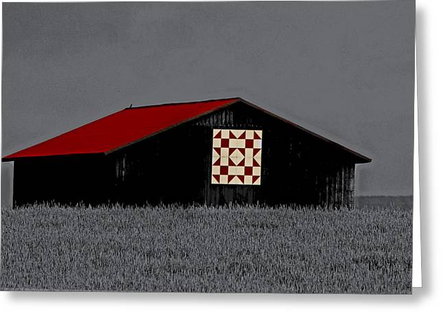 Red Roof  Greeting Card by Kris Napier