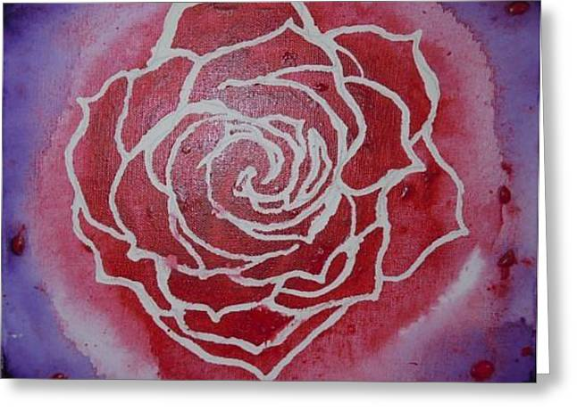 Red Rose Greeting Card by David Byrne
