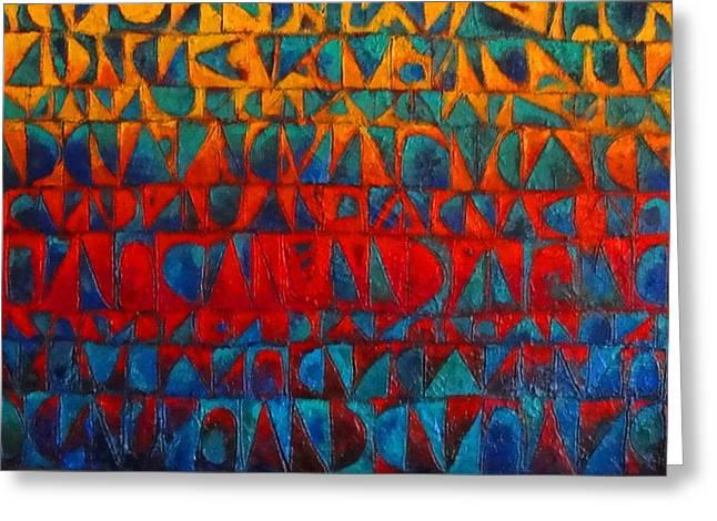Red Sails At Sunset II Greeting Card by Bernard Goodman