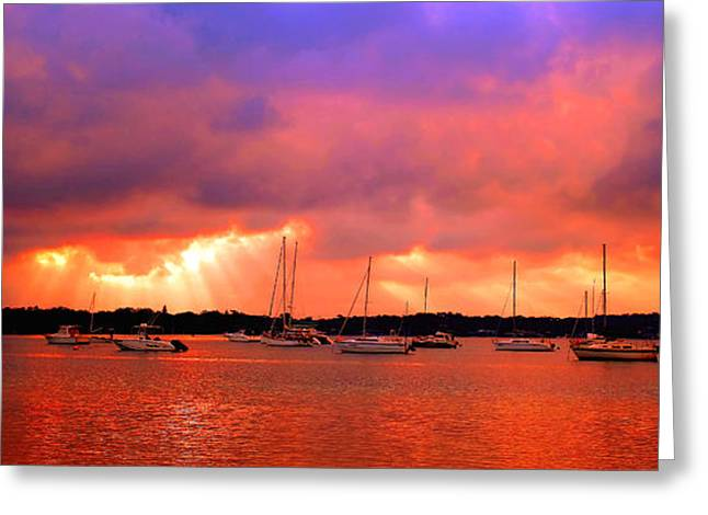 Red Sky At Night - Sailors Delight Greeting Card