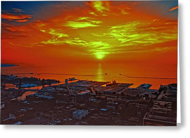 Red Sky At Night A Sailors Delight Greeting Card