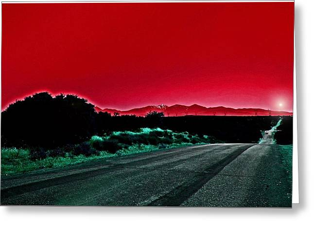 Red Sky At Night Greeting Card by Chet King