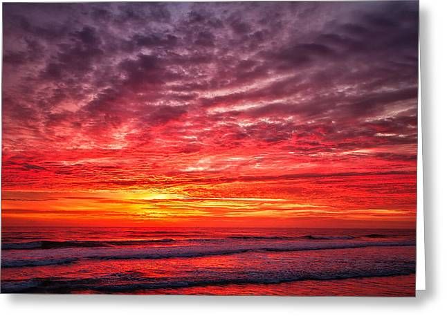Red Sky In The Morning Greeting Card by Steven Wilson
