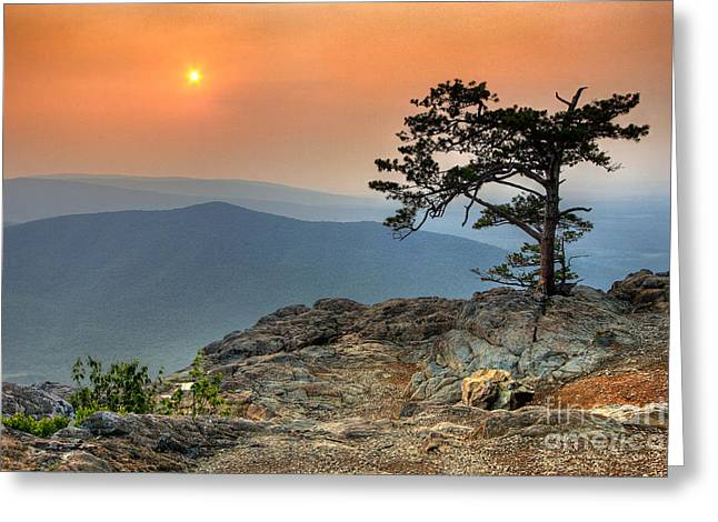 Red Sky Over Ravens Roost II Greeting Card