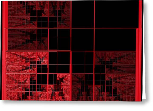 Red Squares 2 Greeting Card