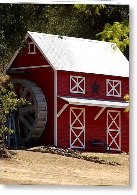 Red Star Barn Greeting Card