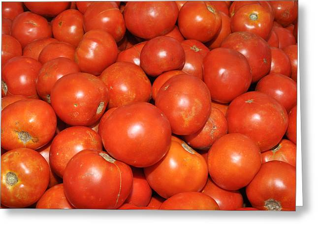 Red Tomatoes Greeting Card by Diane Lent