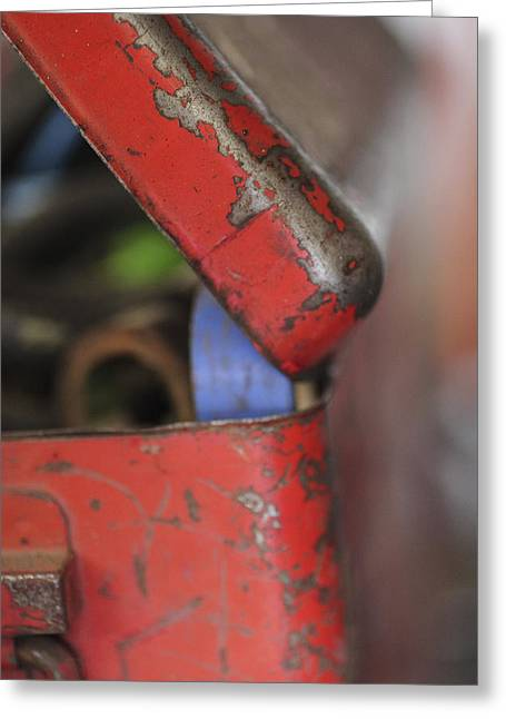 Greeting Card featuring the photograph Red Toolbox. by Carole Hinding