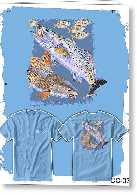 Red Trout Greeting Card