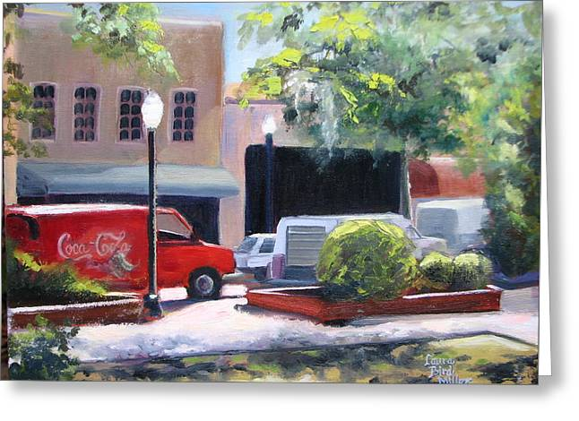 Red Truck Greeting Card by Laura Bird Miller