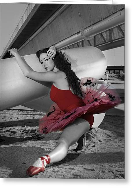 Red Tutu Greeting Card