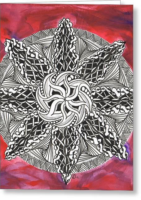 Red Zendala Greeting Card