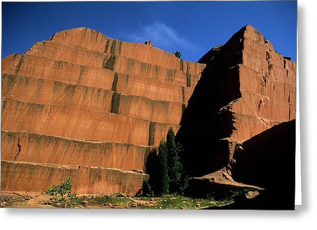 Redrocks Stone Quarry Greeting Card