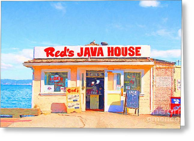 Reds Java House At San Francisco Embarcadero Greeting Card