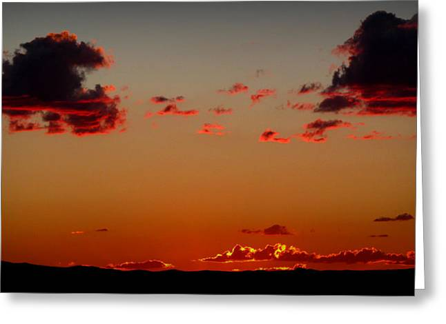 Reds Of An Autumn Sky Greeting Card by Aaron Burrows