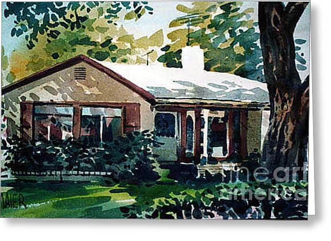 Redwood City House #1 Greeting Card by Donald Maier