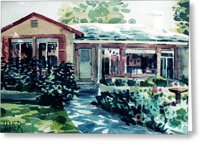 Redwood City House #2 Greeting Card by Donald Maier