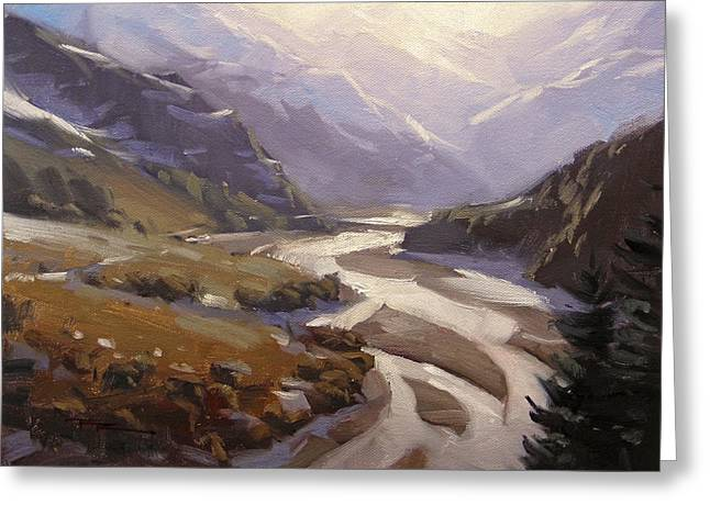 Rees Valley Greeting Card by Richard Robinson