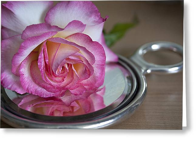 Reflected Beauty L Greeting Card by Shirley Mitchell