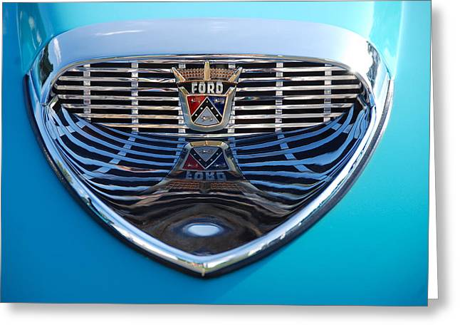 Greeting Card featuring the photograph Reflecting Ford by John Schneider
