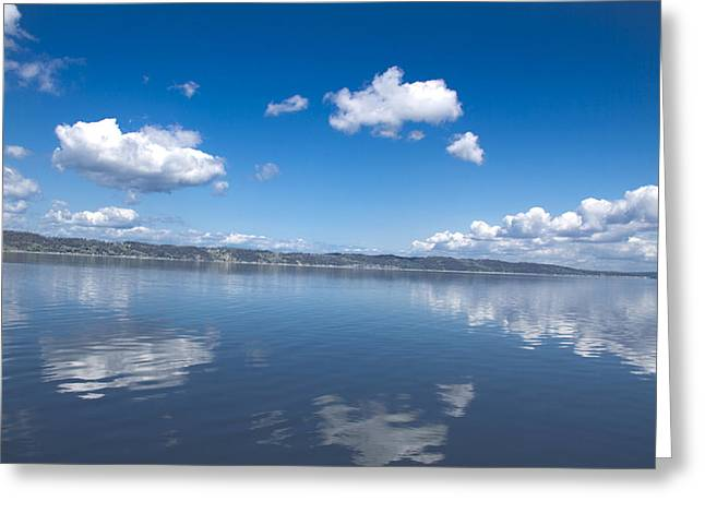 Reflecting Sky Greeting Card by Julie Smith