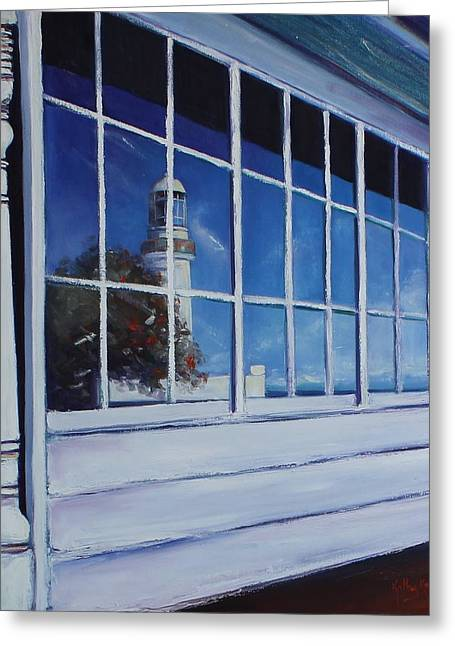 Reflecting The Past Greeting Card by Kathy  Karas