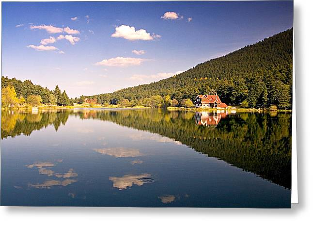 Greeting Card featuring the photograph Reflection - 2 by Okan YILMAZ