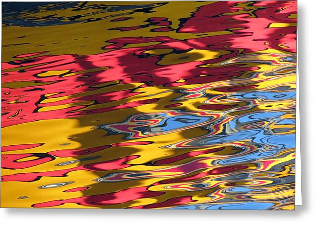 Greeting Card featuring the photograph Reflection Abstraction by Darleen Stry