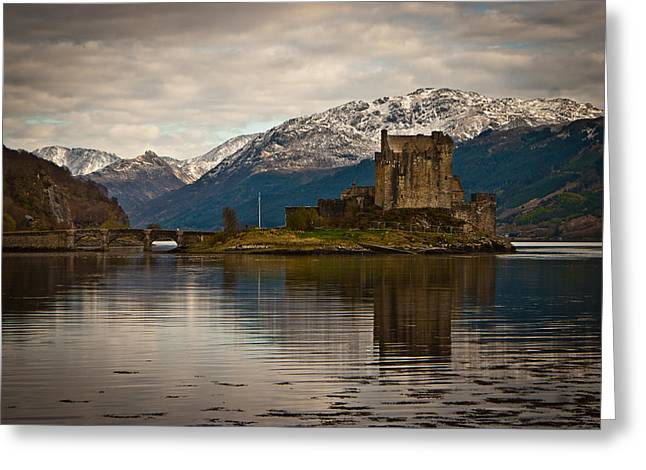 Reflection At Eilean Donan Greeting Card by Chris Boulton