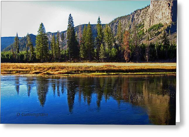 Reflection In The Rocky Mountains Greeting Card