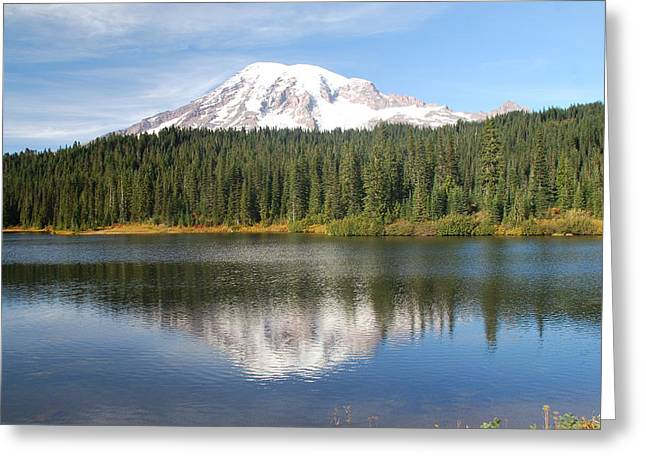 Reflection Lake - Mt. Rainier Greeting Card