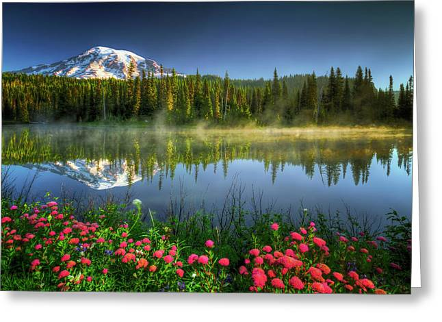 Reflection Lakes Greeting Card