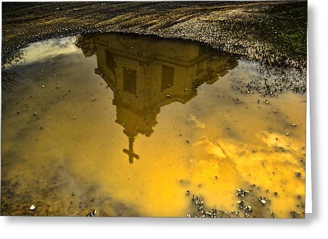 Reflection Of Worship Greeting Card by Dale Stillman